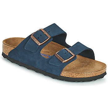 Schoenen Dames Leren slippers Birkenstock ARIZONA SFB Blauw