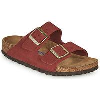 Schoenen Dames Leren slippers Birkenstock ARIZONA SFB Rood