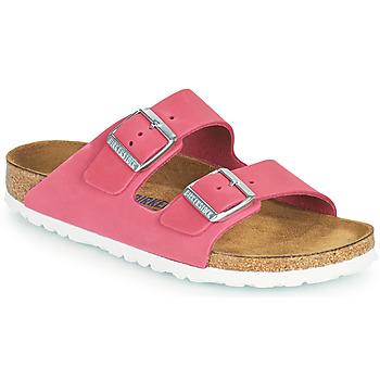 Schoenen Dames Leren slippers Birkenstock ARIZONA SFB Roze