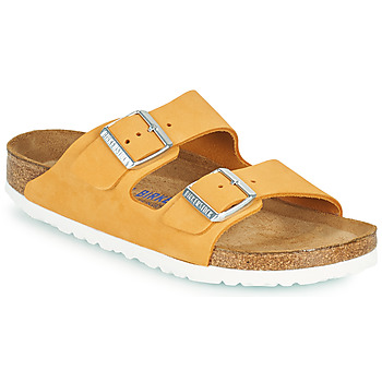 Schoenen Dames Leren slippers Birkenstock ARIZONA SFB Orange