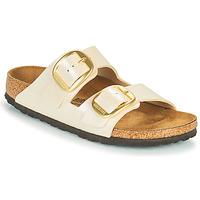 Schoenen Dames Leren slippers Birkenstock ARIZONA BIG BUCKLE Wit
