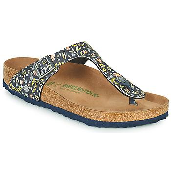 Schoenen Dames Slippers Birkenstock GIZEH Blauw