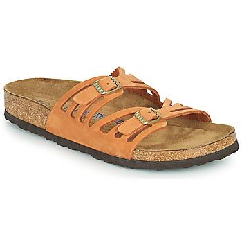 Schoenen Dames Leren slippers Birkenstock GRANADA SFB Orange