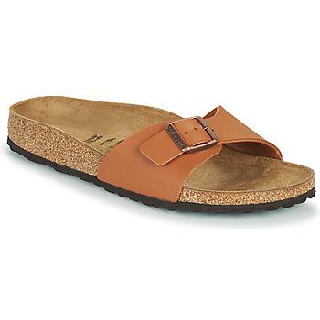 Schoenen Dames Leren slippers Birkenstock MADRID Brown