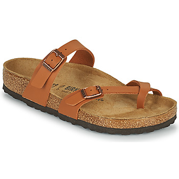 Schoenen Dames Leren slippers Birkenstock MAYARI Brown