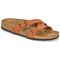Schoenen Dames Leren slippers Birkenstock YAO BALANCE Brown