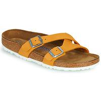 Schoenen Dames Leren slippers Birkenstock YAO BALANCE SFB Orange