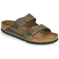Schoenen Heren Leren slippers Birkenstock ARIZONA SFB Kaki