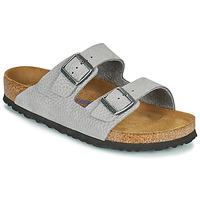 Schoenen Heren Leren slippers Birkenstock ARIZONA SFB Grijs