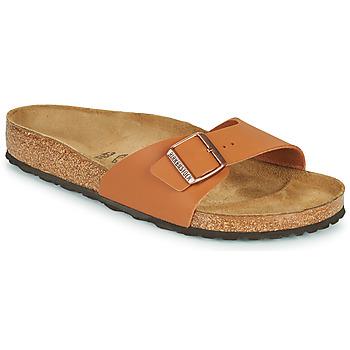 Schoenen Heren Leren slippers Birkenstock MADRID Brown