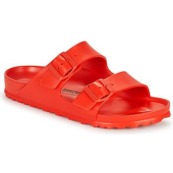 Schoenen Dames Leren slippers Birkenstock ARIZONA EVA Rood