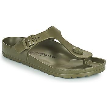 Schoenen Dames Slippers Birkenstock GIZEH EVA Kaki