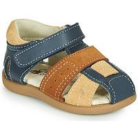 Schoenen Jongens Sandalen / Open schoenen Citrouille et Compagnie OLOSS Blauw / Brown