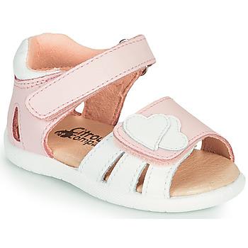 Schoenen Meisjes Sandalen / Open schoenen Citrouille et Compagnie OLESS Roze / Wit