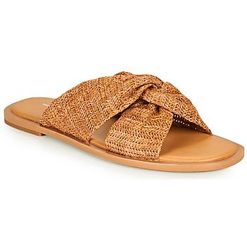 Schoenen Dames Leren slippers Vanessa Wu SD2223CM Brown