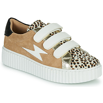 Schoenen Dames Lage sneakers Vanessa Wu BK2206LP Beige / Leopard