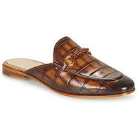 Schoenen Dames Leren slippers Melvin & Hamilton SCARLETT 4 Brown