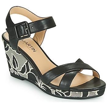 Schoenen Meisjes Sandalen / Open schoenen JB Martin QUERIDA Zwart / Grijs