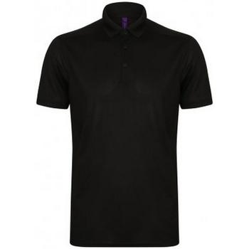 Textiel Heren Polo's korte mouwen Henbury HB460 Zwart