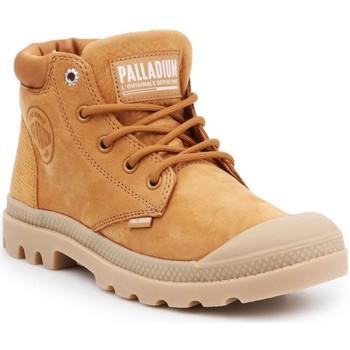 Schoenen Dames Laarzen Palladium Manufacture Pampa Cuff Lea Marron