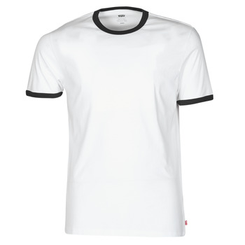 Textiel Heren T-shirts korte mouwen Levi's SS RINGER TEE Wit