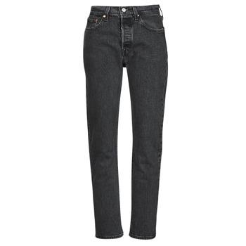 Textiel Dames Boyfriend jeans Levi's 501 CROP Zwart