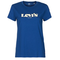Textiel Dames T-shirts korte mouwen Levi's THE PERFECT TEE Blauw