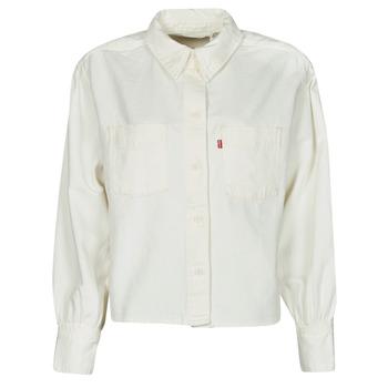 Textiel Dames Overhemden Levi's ZOEY PLEAT UTILITY SHIRT Wit