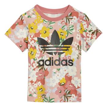 Textiel Meisjes T-shirts korte mouwen adidas Originals DREZZI Multicolour