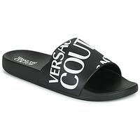 Schoenen Heren Slippers Versace Jeans Couture TENNIA Zwart / Wit