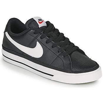 Schoenen Dames Lage sneakers Nike COURT LEGACY Zwart / Wit