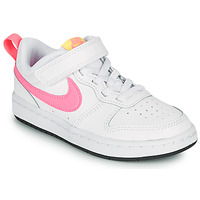 Schoenen Meisjes Lage sneakers Nike COURT BOROUGH LOW 2 PS Wit / Roze