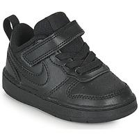 Schoenen Kinderen Lage sneakers Nike COURT BOROUGH LOW 2 TD Zwart