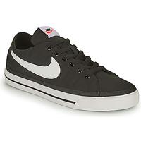Schoenen Heren Lage sneakers Nike NIKE COURT LEGACY CANVAS Zwart / Wit