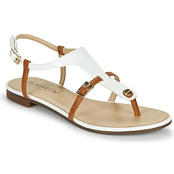 Schoenen Meisjes Sandalen / Open schoenen JB Martin 2GAELIA Wit / Brown