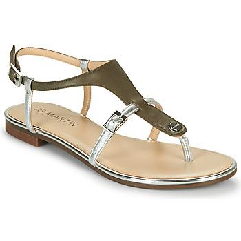 Schoenen Meisjes Sandalen / Open schoenen JB Martin 2GAELIA Kaki / Zilver