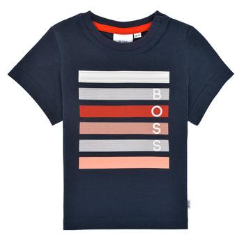 Textiel Jongens T-shirts korte mouwen BOSS ENOLITO Marine