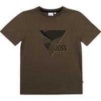 Textiel Jongens T-shirts korte mouwen BOSS SIMEO Kaki