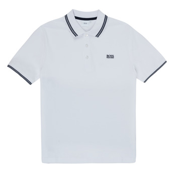 Textiel Jongens Polo's korte mouwen BOSS TONNELA Wit
