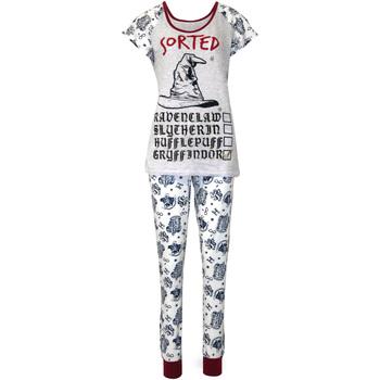 Textiel Dames Pyjama's / nachthemden Harry Potter  Paars/Wit