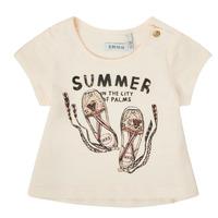 Textiel Meisjes T-shirts korte mouwen Ikks XS10090-11 Wit