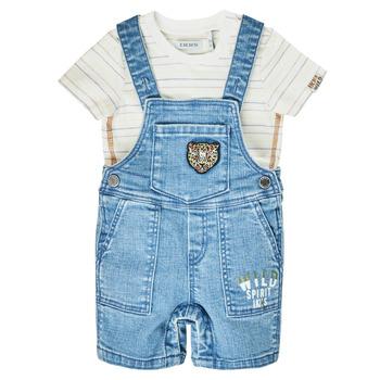 Textiel Jongens Jumpsuites / Tuinbroeken Ikks XS37011-84 Blauw
