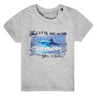 Textiel Jongens T-shirts korte mouwen Ikks XS10031-24 Grijs