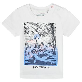 Textiel Jongens T-shirts korte mouwen Ikks XS10051-19 Wit