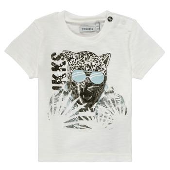 Textiel Jongens T-shirts korte mouwen Ikks XS10161-19 Wit