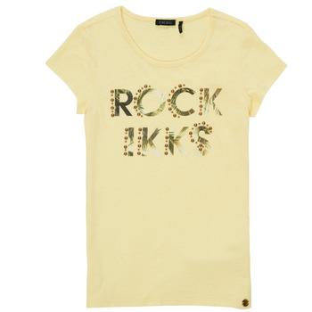 Textiel Meisjes T-shirts korte mouwen Ikks XS10182-73-J Geel