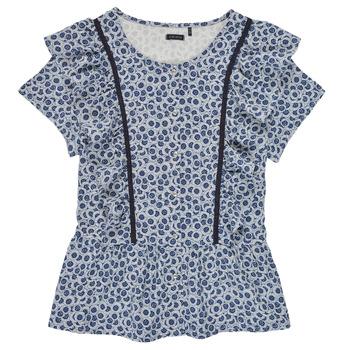 Textiel Meisjes Tops / Blousjes Ikks XS12052-48-J Blauw