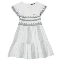 Textiel Meisjes Korte jurken Ikks XS30012-11-J Wit