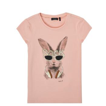 Textiel Meisjes T-shirts korte mouwen Ikks XS10342-32-C Roze