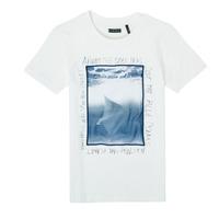 Textiel Jongens T-shirts korte mouwen Ikks XS10033-19-C Wit